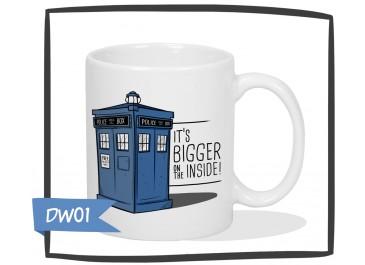 Kubek z nadrukiem Tardis, Doctor Who