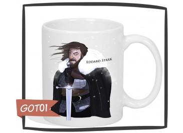 Kubek z nadrukiem Eddard Stark, Gra o Tron