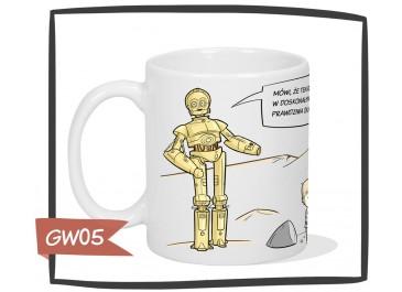 Kubek z nadrukiem C3PO, R2D2, Star Wars