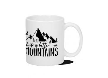 Kubek Podróżnika - Life is better in the Mountains