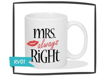 Kubek - Mrs Always Right - Retro