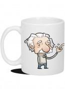 Kubek - Einstein - Zabałaganione biurko