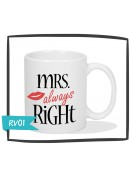 Kubek - Mrs Always Right - Retro